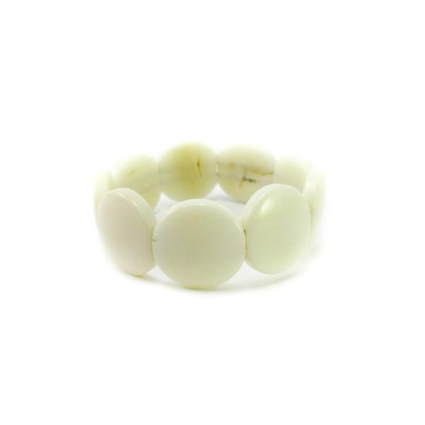 Bracelet manchette ivoire v g tal naturel blanc tagua - Blanc comme l ivoire ...