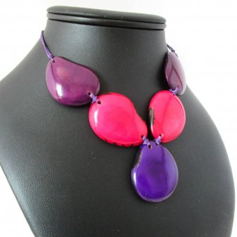 collier en ivoire vegetal, bijoux ethnique naturel, boutique tagua
