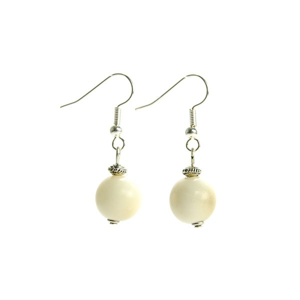 Boucles d'oreilles perle simple naturel